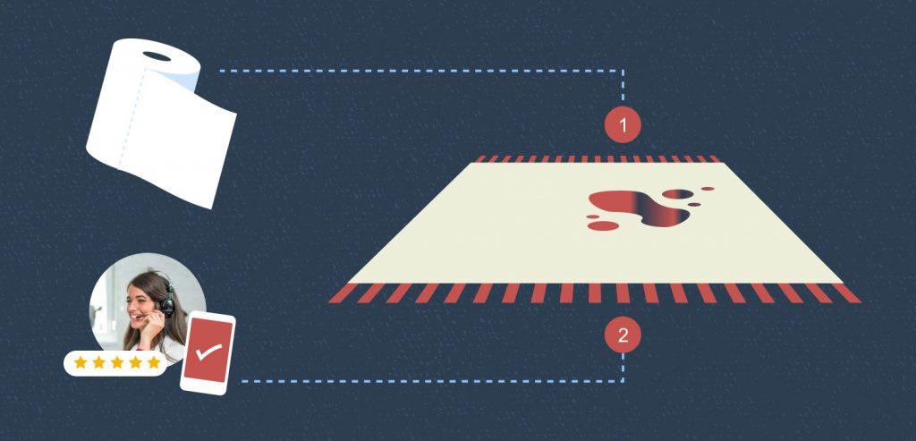 איך לטפל בכתמים בשטיח